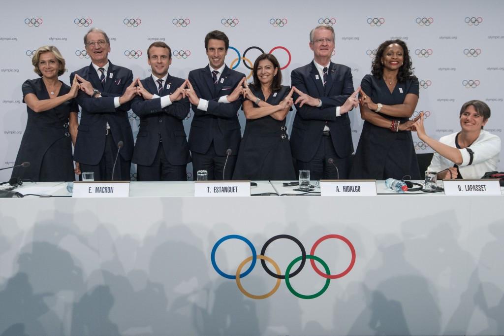 Paris' bid team pictured after their presentation ©Getty Images