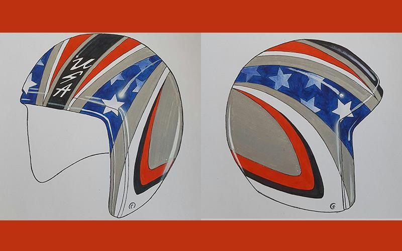 USA Luge unveil Pyeongchang 2018 helmets