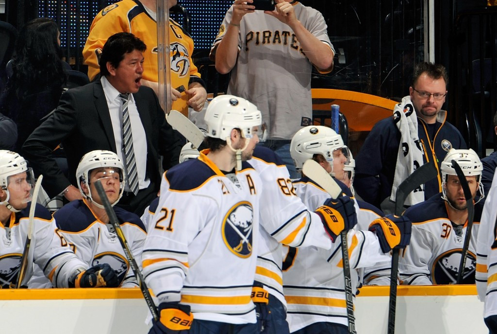 Ted Nolan, back left, has coached the Buffalo Sabres in the National Hockey League ©Getty Images