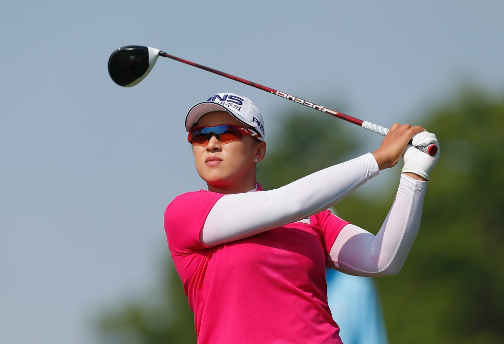South Korea's Amy Yang is one shot off the lead on five-under-par ©Getty Images