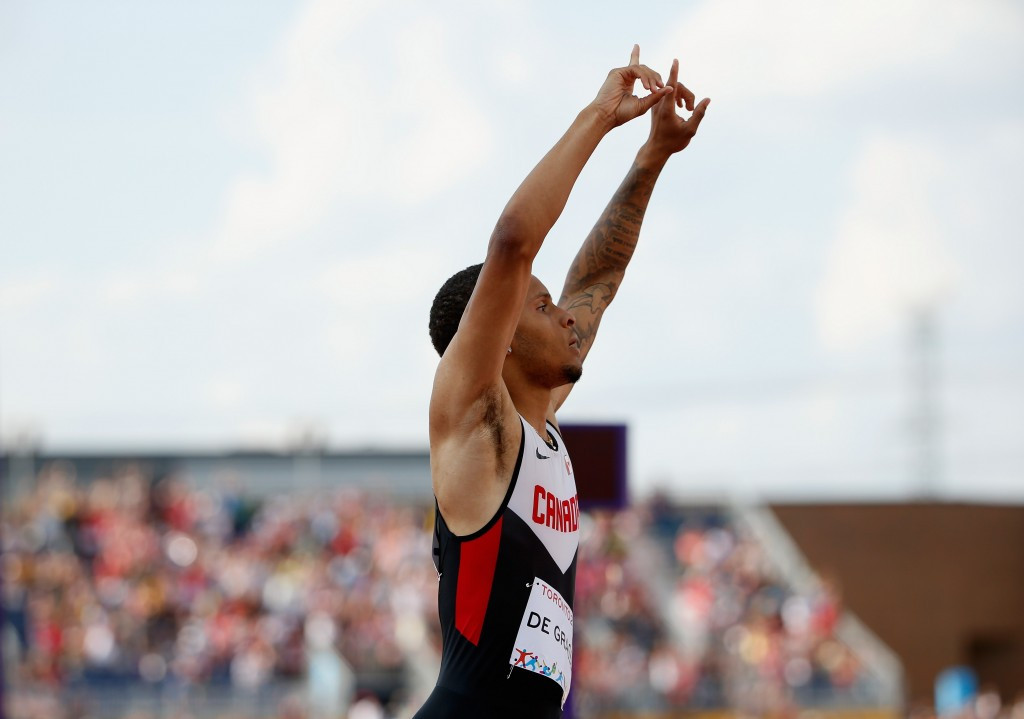 De Grasse completes men's sprint double by sealing Pan American Games 200m gold