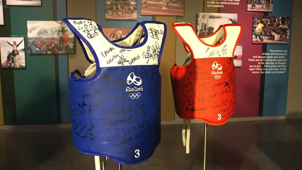 Signed PSS used at Rio 2016 donated to Olympic Museum by World Taekwondo