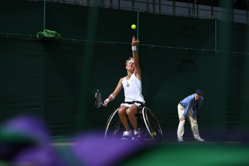 Germany's Sabine Ellerbrock won her respective semi-final today ©Getty Images