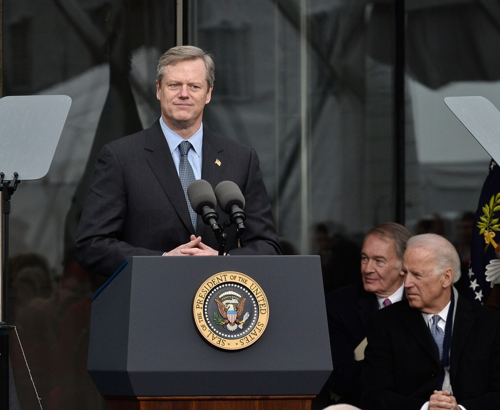 Massachusetts Governor Charlie Baker insists he will wait until August before committing either way ©Getty Images