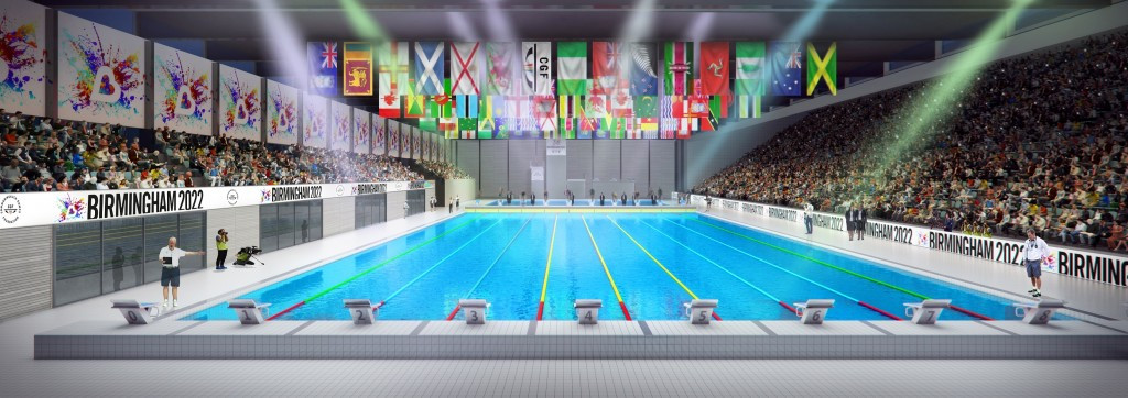 A new aquatics centre would be used if Birmingham was to host the 2022 Commonwealth Games ©Birmingham 2022