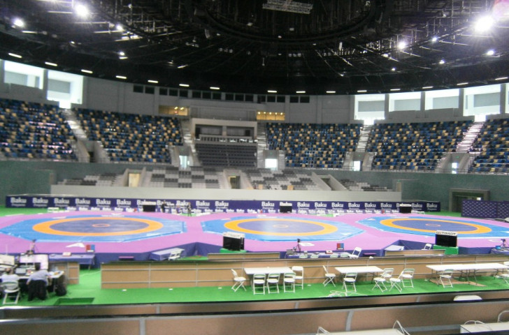 The Heydar Aliyev Arena hosted the wrestling test event ahead of the inaugural European Games ©ITG