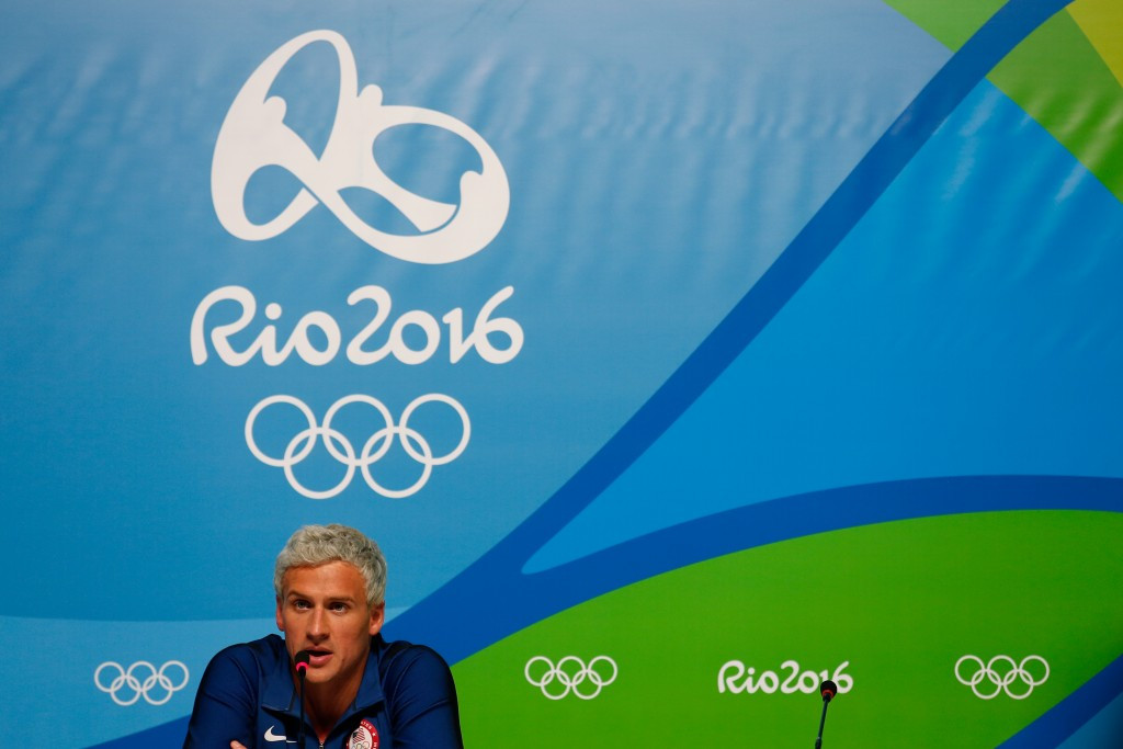 Ryan Lochte received a 10-month ban for his part in an incident at a petrol station during the Rio 2016 Olympic Games ©Getty Images
