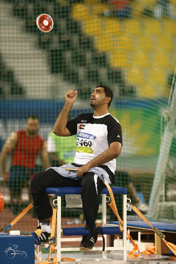 The opening of the 2017 World Para Athletics Championships saw the United Arab Emirates' team manager Theban Almheiri receive a special medal for the family of athlete Abdullah Hayayei, who tragically died earlier this week ©Getty Images