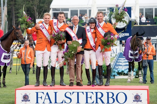 Dutch triumph at FEI Nations Cup Jumping Division One in Falsterbo