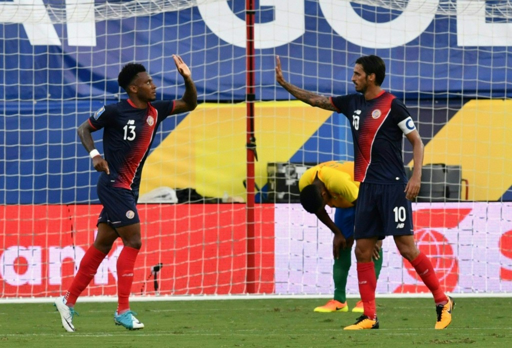 Costa Rica claimed a comfortable 3-0 victory over French Guiana today to earn a place in the quarter-finals of the CONCACAF Gold Cup as Group A winners ©Getty Images