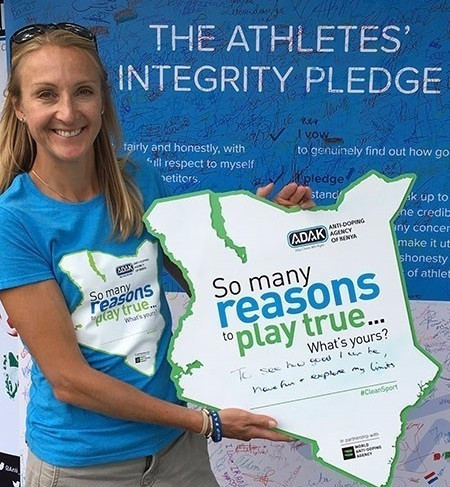 Paula Radcliffe is encouraging athletes to sign the AIU's Athletes' Pledge ©WADA