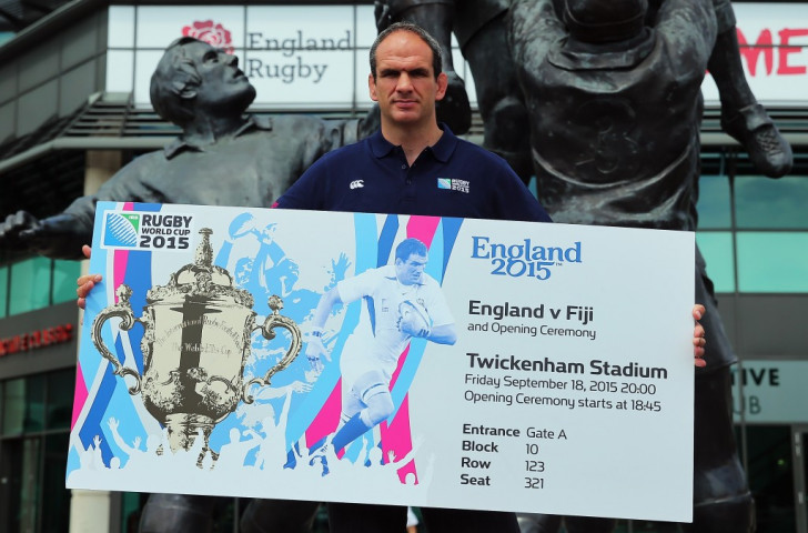 Martin Johnson, captain of the successful England team at the 2003 Rugby World Cup, unveiled the ticket design for this year's edition last month