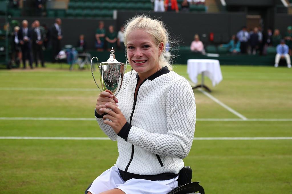 De Groot wins wheelchair singles title at Wimbledon