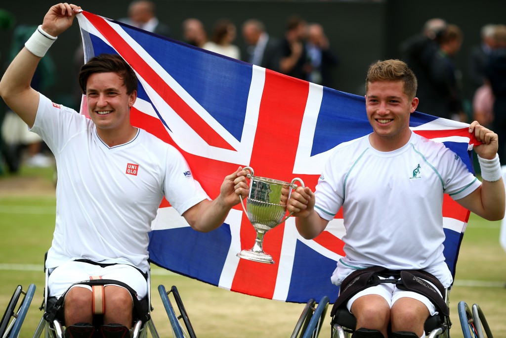 Gordon Reid and Alfie Hewett defended their men's doubles title ©Getty Images