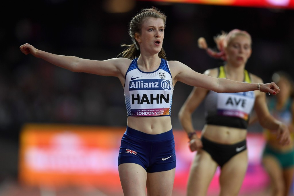 Great Britain's Sophie Hahn triumphed in the women's 200m T38 event with a world record time ©Getty Images