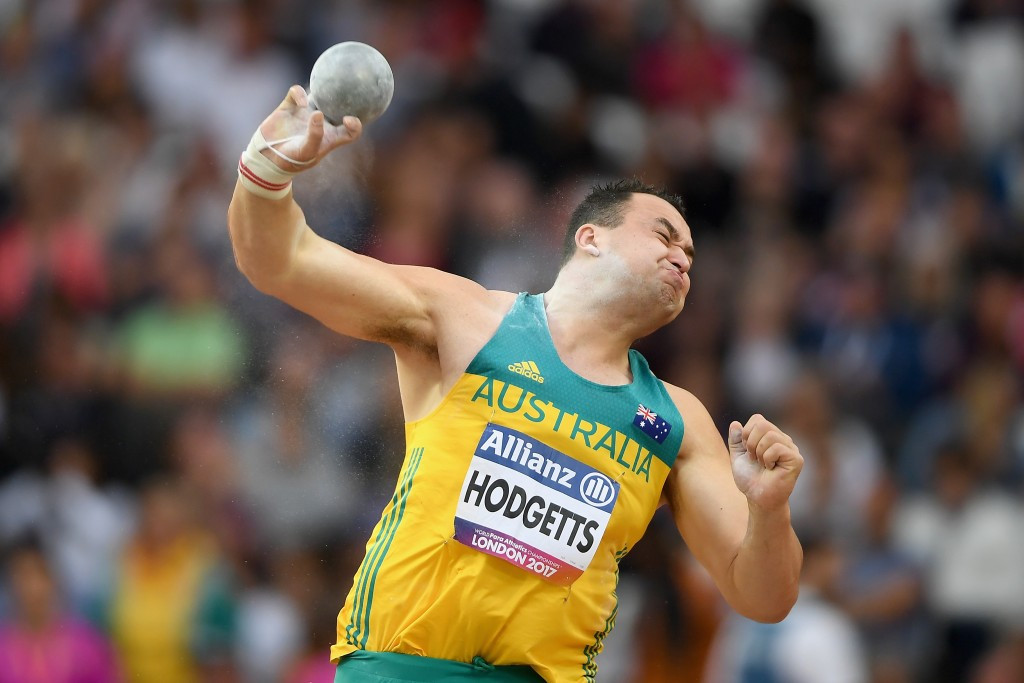 Australia's Todd Hodgetts was unable to defend his men's shot put F20 title ©Getty Images