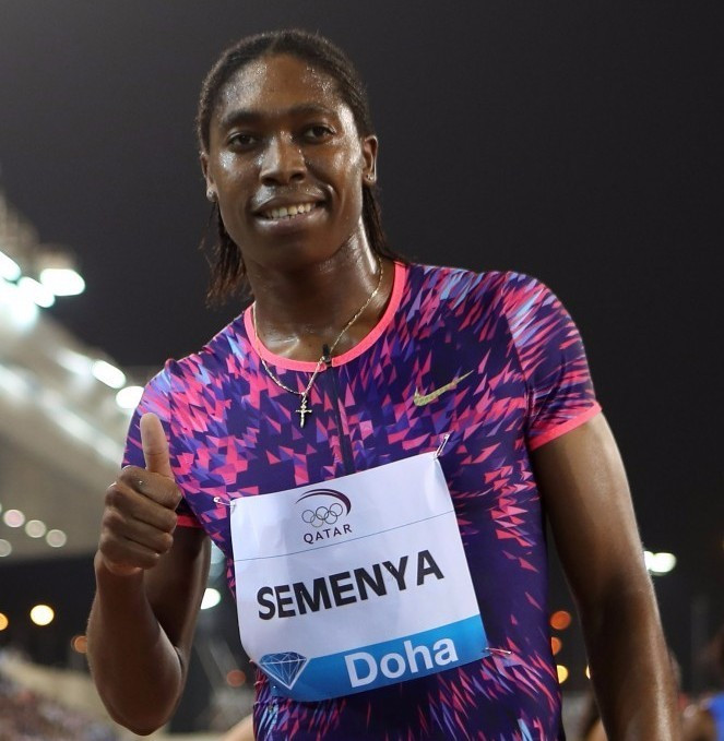 World and Olympic 800m champion Caster Semenya will drop down to 400m at the IAAF Diamond League meeting in Rabat tomorrow ©Getty Images