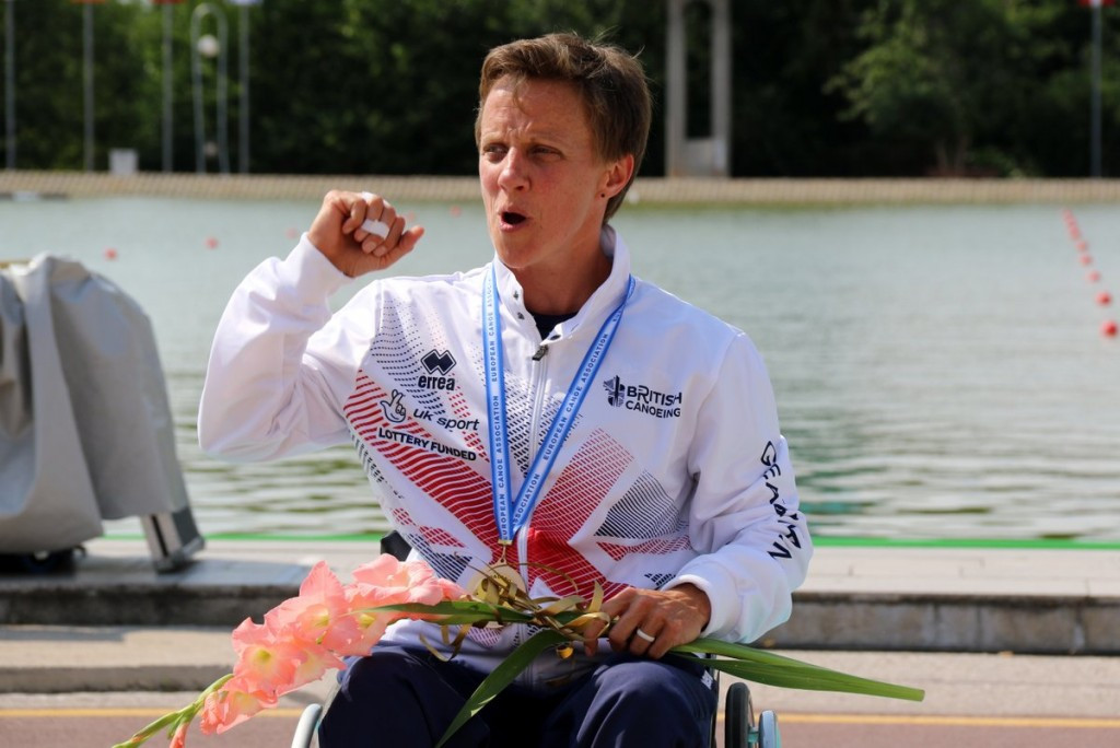 Emma Wiggs was one of three British gold medallists on day one of the European Para-canoe Championships ©Canoe Europe/Twitter