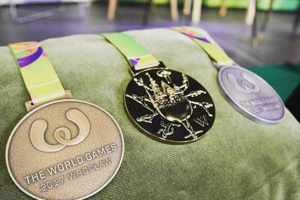 The Wrocław 2017 World Games medals have been unveiled ©IWGA