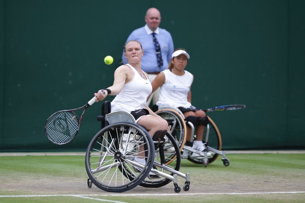 Great Britain's Jordanne Whiley and Japan's Yui Kamiji claimed a fourth consecutive women's doubles wheelchair title ©Getty Images