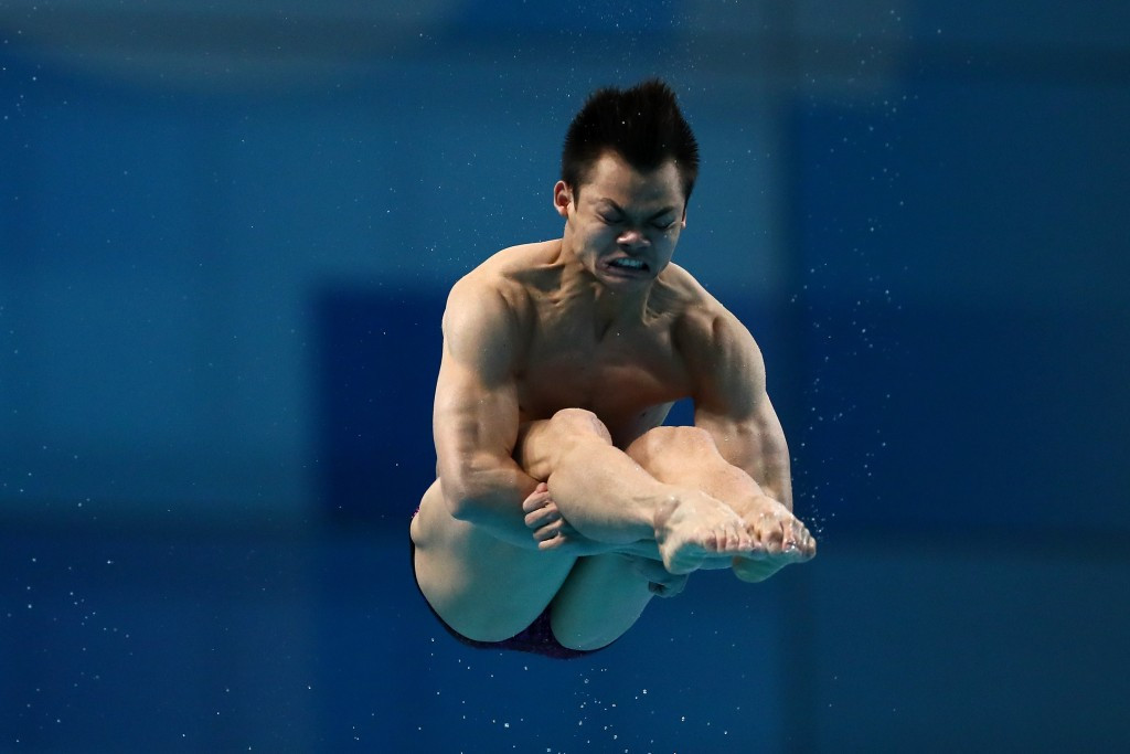 Peng Jianfeng delivered one of China's two diving gold medals of the day ©Getty Images