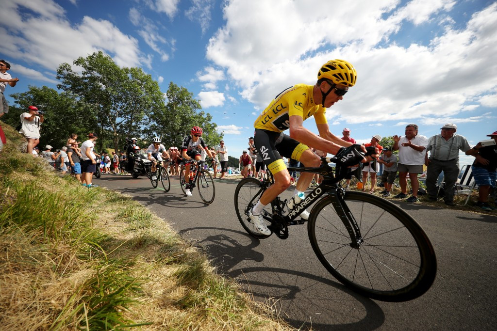 The Team Sky rider eventually battled back to the group ©Getty Images