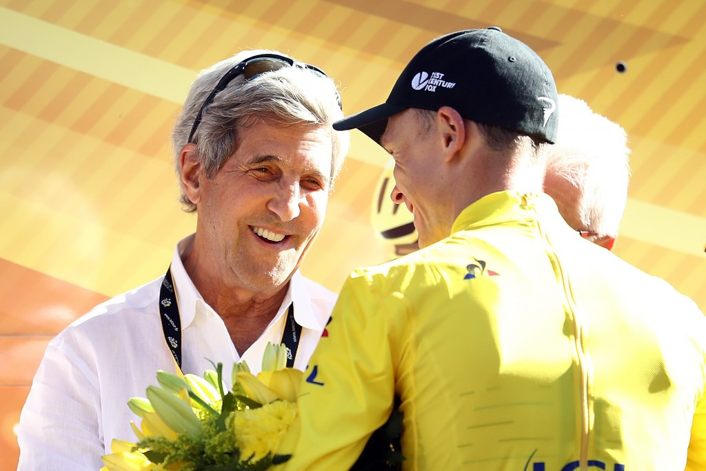 American politician John Kerry was among those in attendance on stage 15 ©Getty Images
