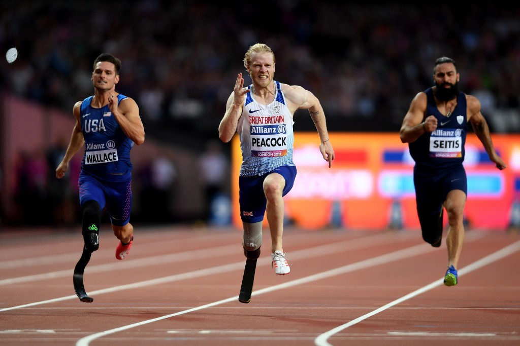Great Britain's Jonnie Peacock delighted the home crowd with victory in the men's 100m T44 ©Getty Images