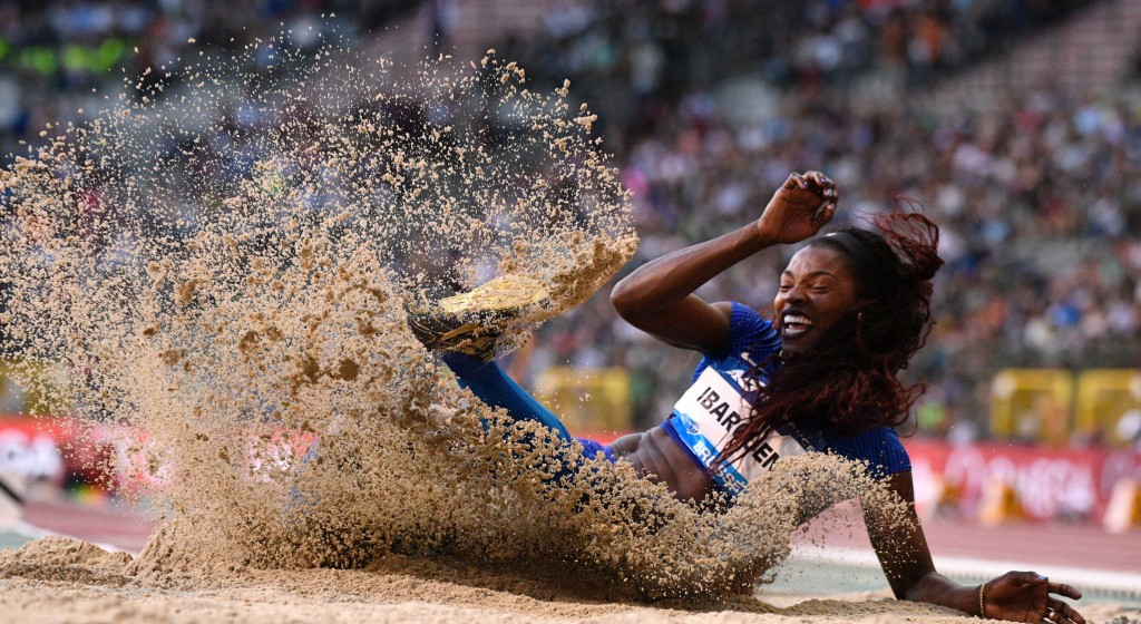 Caterine Ibarguen won the women's triple jump competition ©Getty Images