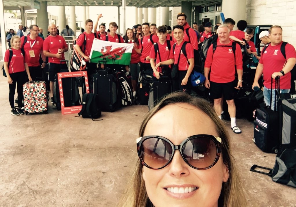 Athletes from England, Wales and South Africa were among those to arrive in The Bahamas today ©Twitter