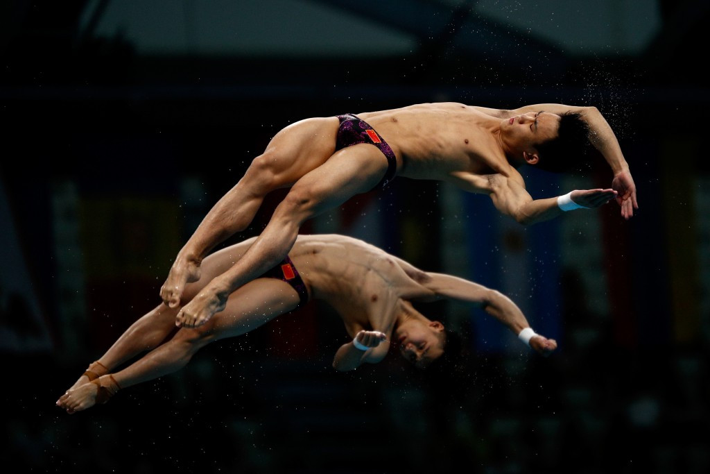 Chen Aisen and Yang Hao won the men's synchronised 10 metres platform competition ©Getty Images