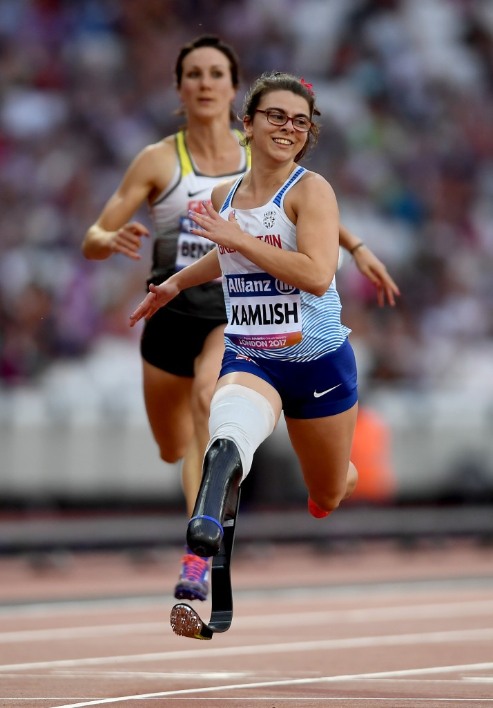 Great Britain's Sophie Kamlish dominated the women's 100m T44 event, breaking the world record in the heats before winning the final ©Getty Images
