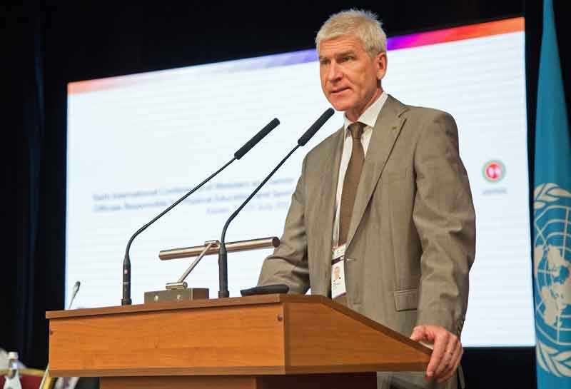 FISU President Oleg Matytsin was among the speakers at the sixth International Conference of Ministers and Senior Officials Responsible for Physical Education and Sport in Russian city Kazan ©FISU