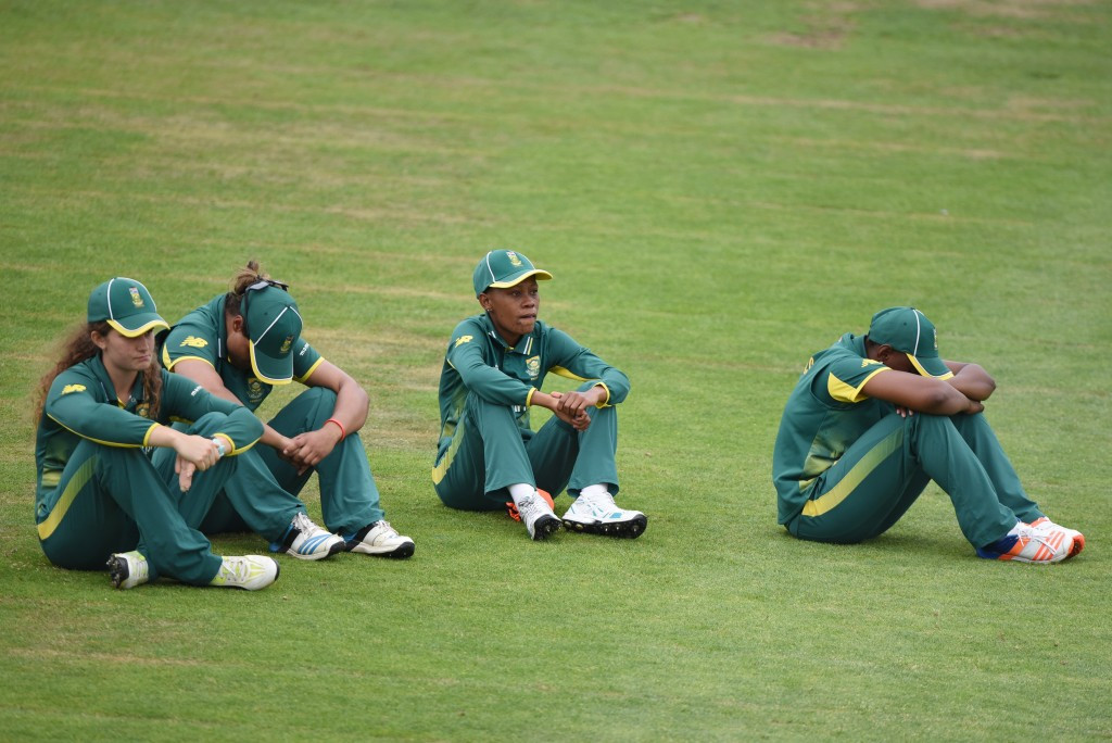 South African players reflect on an agonising defeat ©Getty Images
