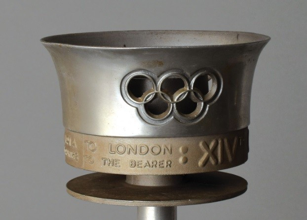 The Olympic Torch from the 1948 Summer Games in London will also be auctioned ©RR Auction