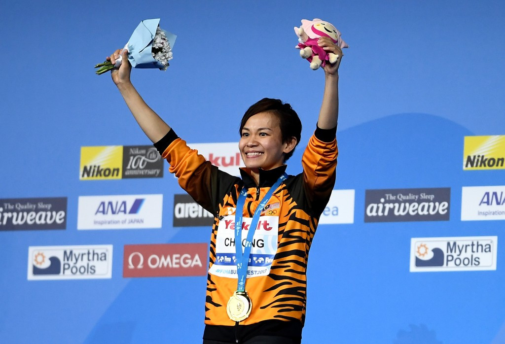 Cheong Jun Hoong secured the 10m platform diving title ©Getty Images