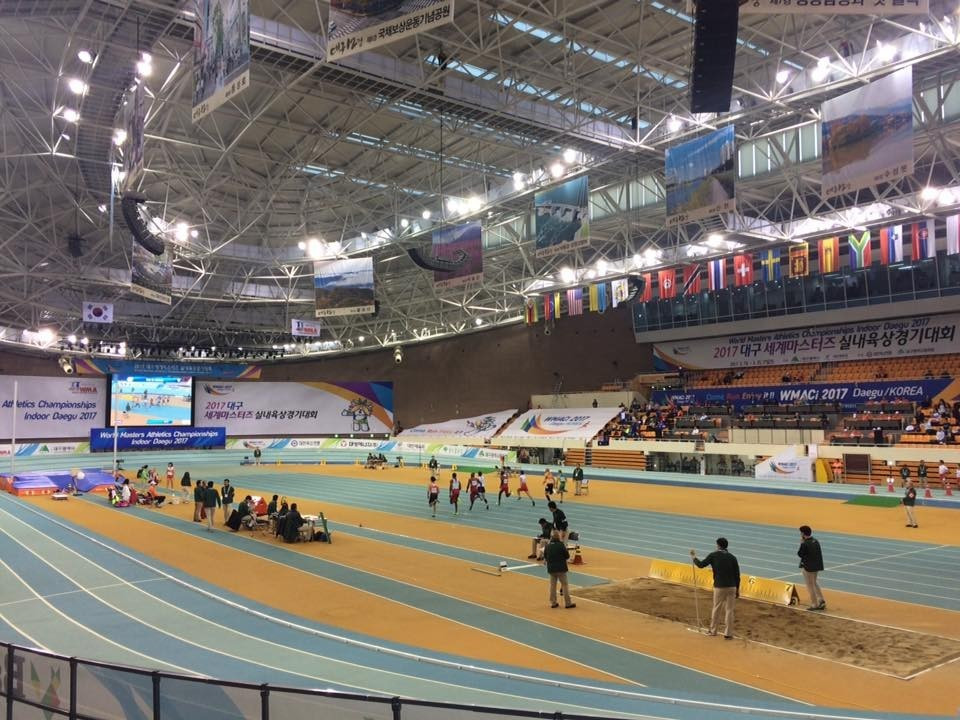 Scott McPherson won two gold medals at the World Masters Athletics Indoor Championships in Daegu ©Facebook
