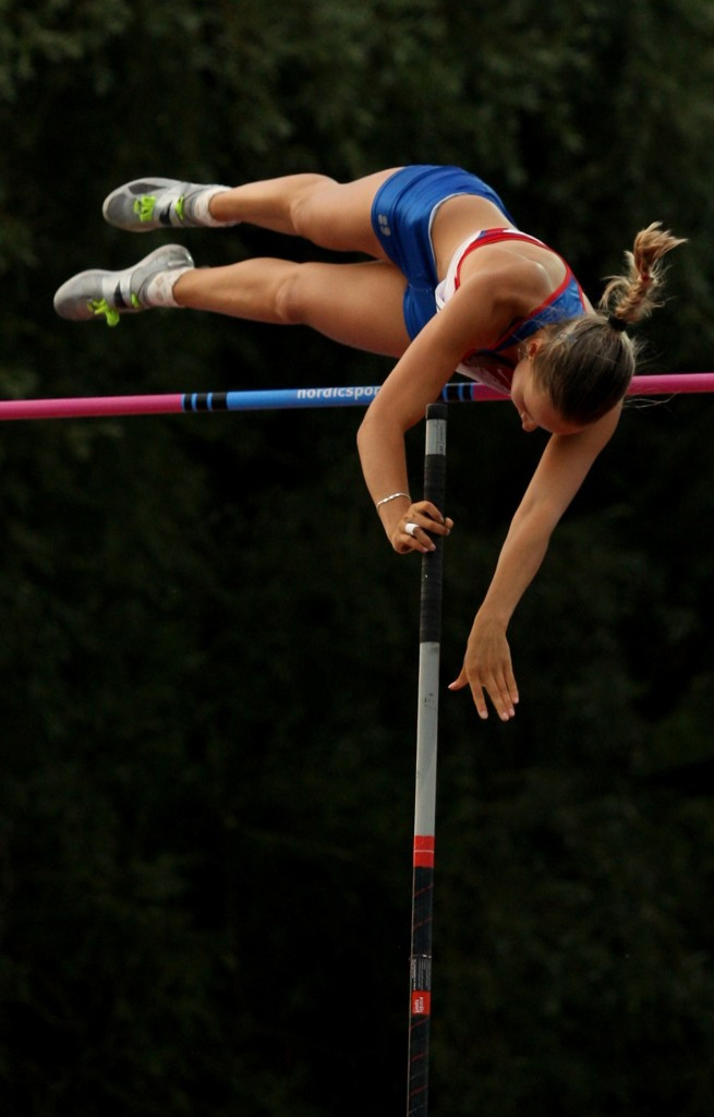 Pole vaulter Alena Lutkovskaia features on the list of eight athletes ©Getty Images