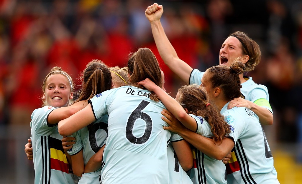Belgium claim first ever win at UEFA Women's European Championships