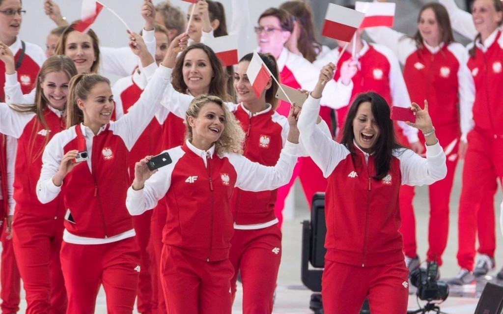 Poland entered the arena last during the Parade of Nations ©World Games 2017