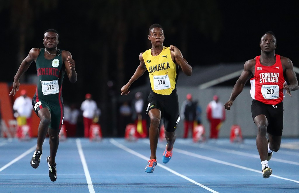 Adell Colthrust made history for Trinidad and Tobago as he secured the country's first-ever Commonwealth Youth Games gold medal by winning the boys' 100m ©Getty Images