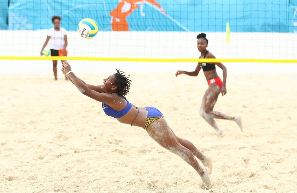 Beach volleyball preliminary action continued today ©Getty Images