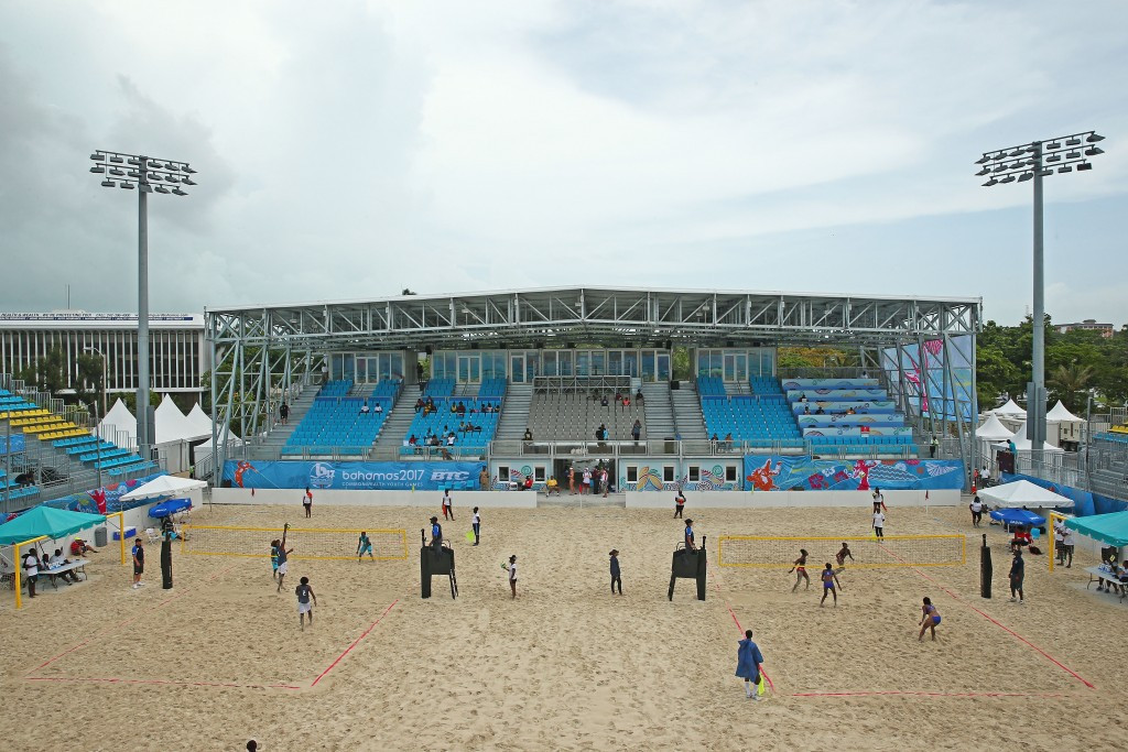 Beach volleyball is taking place at the same venue which hosted the FIFA Beach Soccer World Cup ©Getty Images