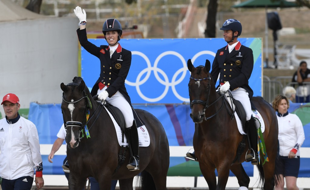 Carl Hester, right, and Charlotte Dujardin were among British equestrian medal winners at Rio 2016 ©Getty Images