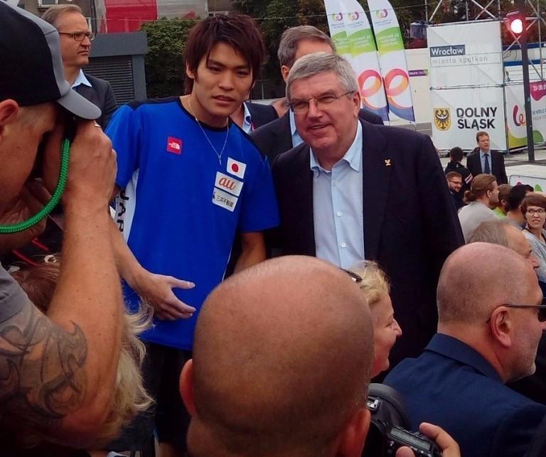IOC President full of praise for sport climbing as World Games begin