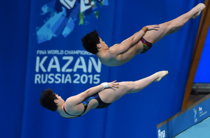 China's Si Yajie and Tai Xiaohu came out on top in the mixed synchronised platform event