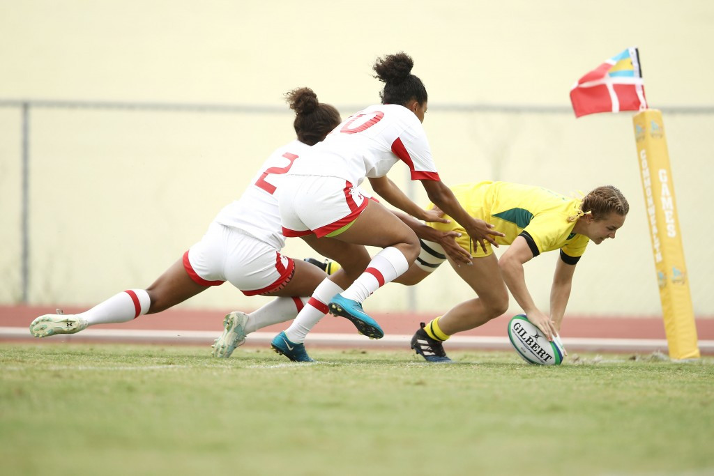 Australia thrashed Canada to take the girls title ©Getty Images