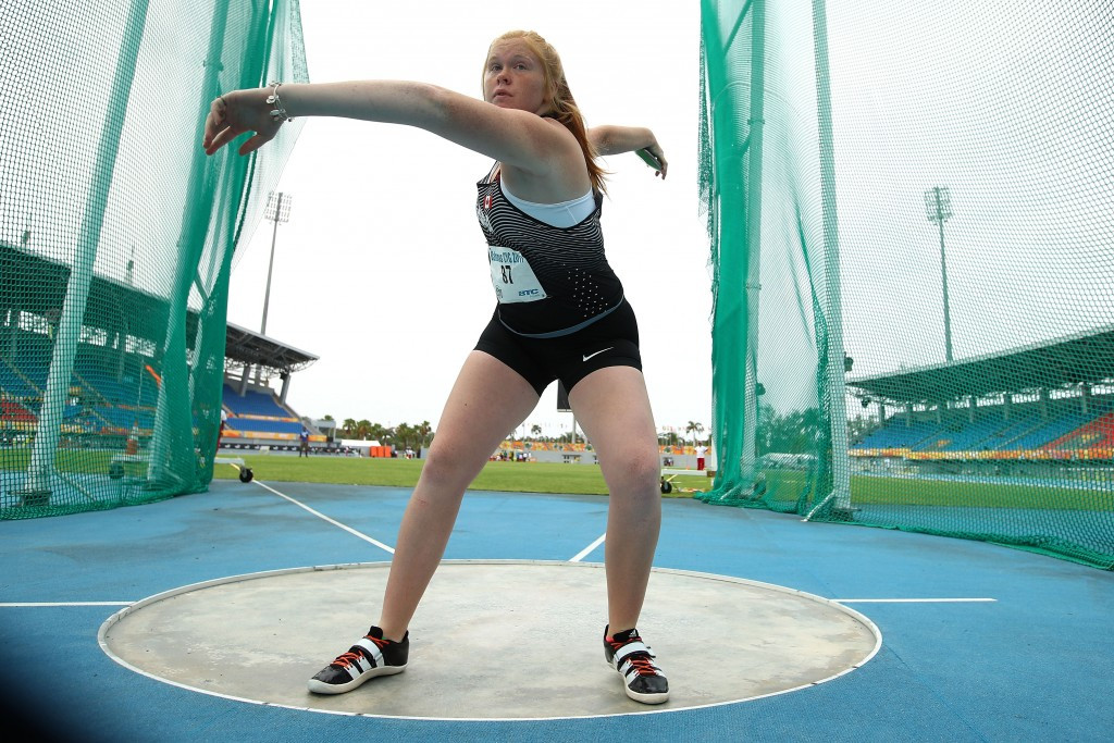Trinity Tutti added the discus title to the shot put crown she sealed yesterday ©Getty Images