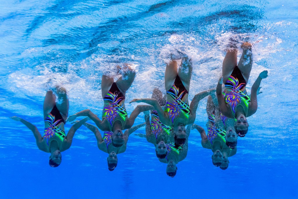 "A name change from synchronised to ""artistic"" swimming was passed here today ©Getty Images"