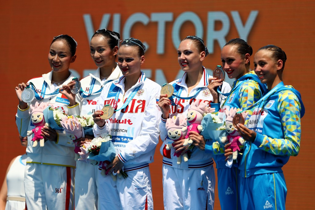 Russia, the world's dominant synchronised swimming nation are among those to propose the name change ©Getty Images